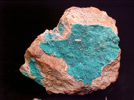 Caledonite & Dioptase - California